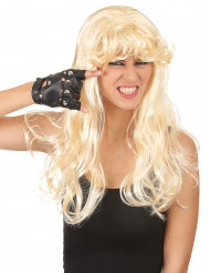 Lange blonde pruik met pony voor vrouwen