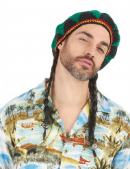 Reggae rasta pruik met muts