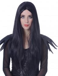 Lange zwarte pruik voor vrouwen - 60 cm