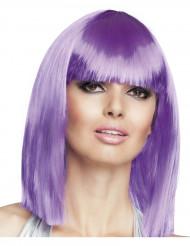 Half lange paarse pruik voor vrouwen
