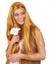 Lange hippie pruik voor vrouwen