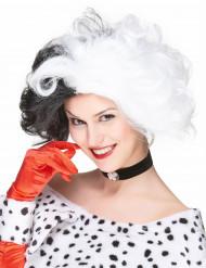Zwart-witte Devil pruik voor vrouwen