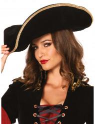 Piratenhoed met goudkleurige rand voor volwassenen