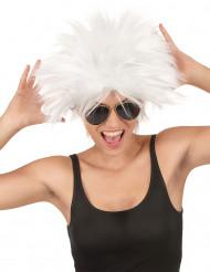 Witte rockstar pruik voor vrouwen