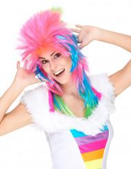 Veelkleurige punk pruik voor vrouwen