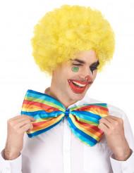 Gele afro / clown pruik voor volwassenen - Comfort