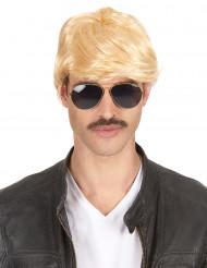 Korte blonde pruik voor heren