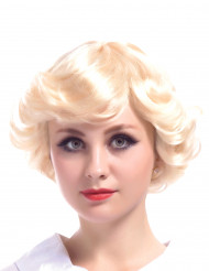 Korte gekrulde blonde vintage pruik voor vrouwen