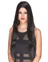 Luxe zwarte lange pruik voor vrouwen