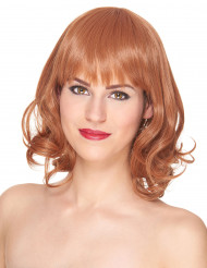 Luxe halflange rode pruik voor dames