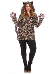 Luipaard kostuum voor dames grote maat