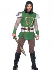 Groen met zilver ridderkostuum voor mannen