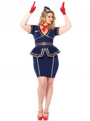 Stewardessen kostuum grote maten voor vrouwen