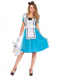 Blauwe Alice kostuum voor vrouwen