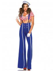 Sexy matrozen kostuum met lange broek voor dames