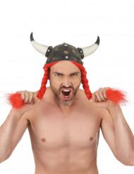 Gallische helm met vlechten voor volwassenen