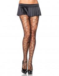 Zwarte spinnenweb panty