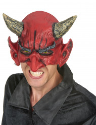 Duivel half masker van latex voor volwassenen Halloween