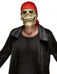 Latex masker piraten doodskop voor volwassenen Halloween