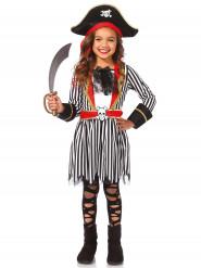 Gestreept zwart met wit piratenpak voor meisjes