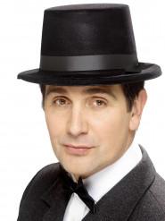 Zwarte retro hoed voor mannen