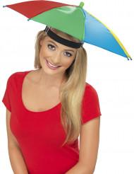Veelkleurige paraplu hoed voor volwassenen