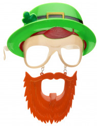 St Patrick's Day bril met baard