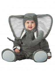 Grijze olifant pak voor baby