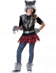 Wolf kostuum voor meisjes - Premium