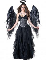 Zwarte engel kostuum voor vrouwen - Premium