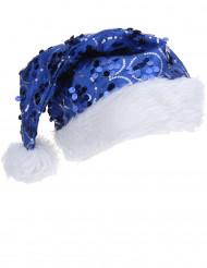 Blauwe kerstman muts voor volwassenen