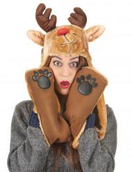 Rendier kerstmuts en sjaal voor volwassenen