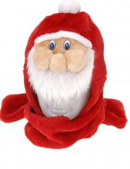 Kerstman muts met sjaal voor volwassenen