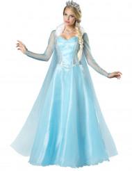 Luxe sneeuwprinses kostuum voor dames
