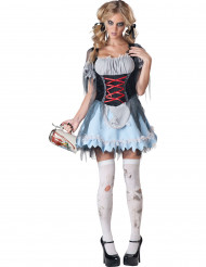 Zombie Tiroler kostuum voor vrouwen - Premium