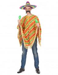 Mexicaanse peper poncho voor volwassenen