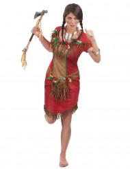 Rood indianen kostuum voor vrouwen