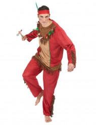 Rood indianen kostuum voor mannen