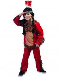Rood indianenkostuum voor jongens
