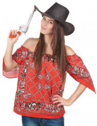 Cowboy t-shirt voor vrouwen