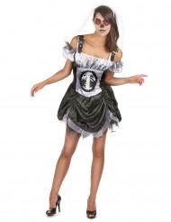 Chique skeletten Halloween kostuum voor dames