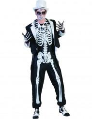 Chique skeletten kostuum voor mannen Halloween