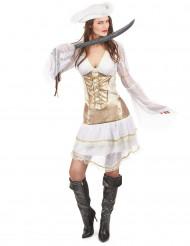 Wit piraten kostuum voor dames