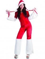 Disco kerstvrouw kostuum voor vrouwen