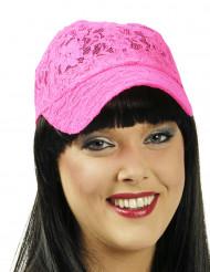 Fluo roze kanten pet voor vrouwen