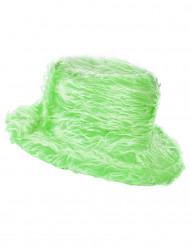 Groen pluizige muts voor volwassenen