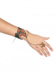 Armband en ring met rode stenen voor vrouwen