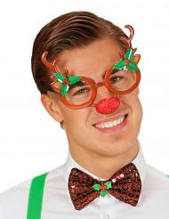 Rendier kerstbril voor volwassenen