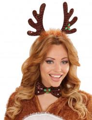 Rendier kerstset haarband en strikje