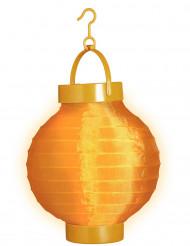 Oranje lichtgevende lantaarn 15 cm